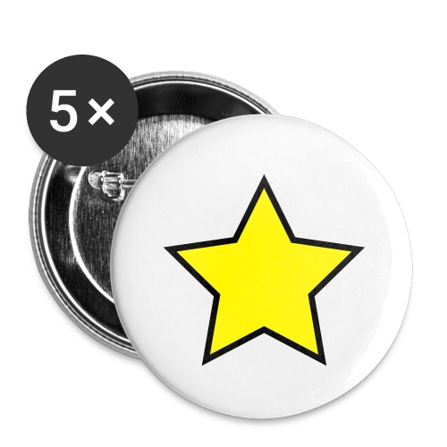 Star - Stjerne - Buttons small 1''/25 mm (5-pack)