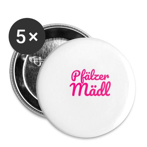 Herzl: Pfälzer Mädl - Buttons klein 25 mm (5er Pack)