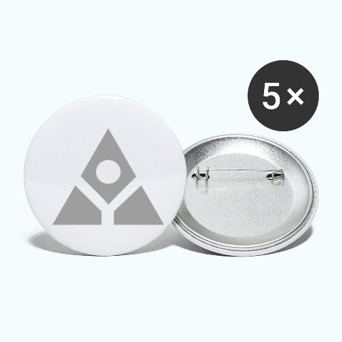 Sacred geometry gray pyramid circle in balance - Buttons small 1''/25 mm (5-pack)