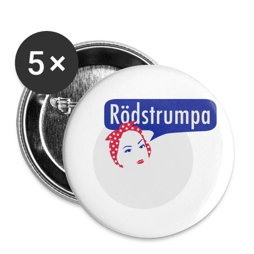 RÖDSTRUMPA 2 - Små knappar 25 mm (5-pack)