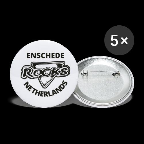 Rocks Enschede NL B-WB - Buttons klein 25 mm (5-pack)