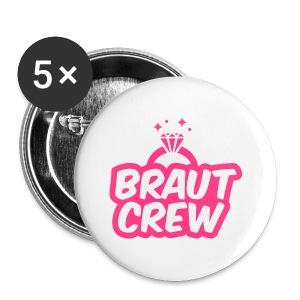 Braut Crew - JGA T-Shirt - JGA Shirt - Party - Buttons klein 25 mm