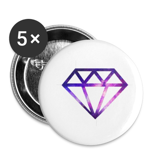 Galaxy Diamonds - Buttons small 1''/25 mm (5-pack)