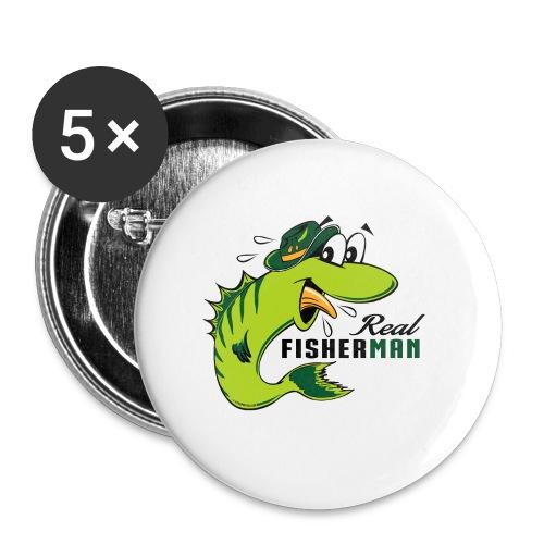 10-38 REAL FISHERMAN - TODELLINEN KALASTAJA - Rintamerkit pienet 25 mm (5kpl pakkauksessa)