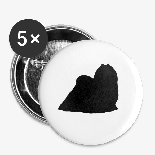 Maltese - Buttons small 1''/25 mm (5-pack)