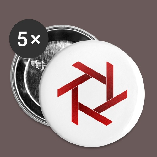 Star - Buttons/Badges lille, 25 mm (5-pack)