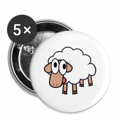 Sheep Cartoon - Buttons klein 25 mm (5-pack)
