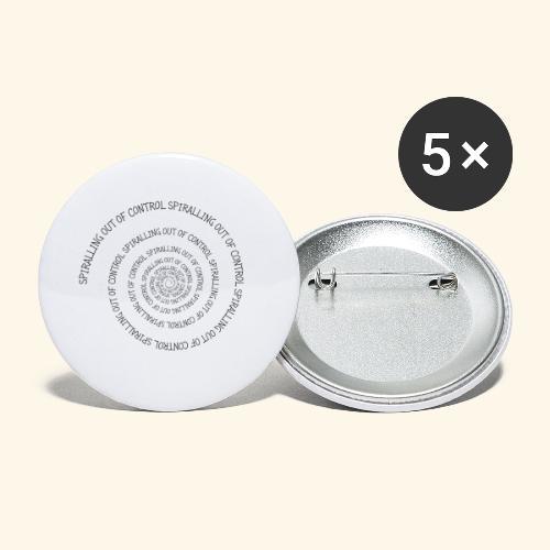SPIRAL TEXT LOGO BLACK IMPRINT - Buttons small 1''/25 mm (5-pack)