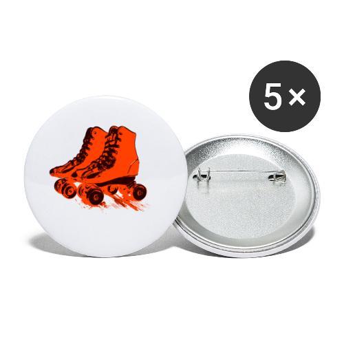 roller skates 78 - Buttons klein 25 mm (5er Pack)
