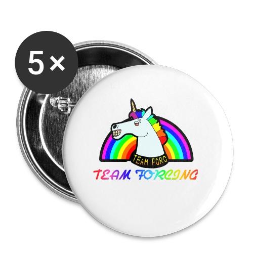 Logo officiel de la team forcing - Lot de 5 petits badges (25 mm)