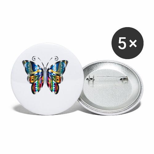 butterfly - Przypinka mała 25 mm (pakiet 5 szt.)
