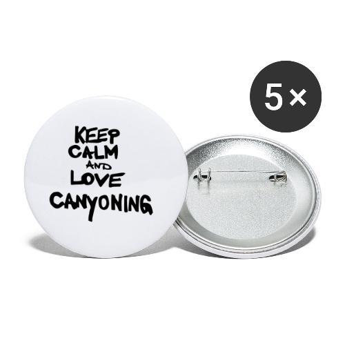 keep calm and love canyoning - Buttons klein 25 mm (5er Pack)