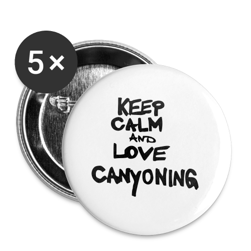 keep calm and love canyoning - Buttons klein 25 mm