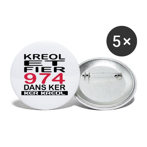 fier et kreol hom 02 ti - Lot de 5 petits badges (25 mm)