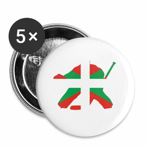 goalie et basque - Lot de 5 petits badges (25 mm)