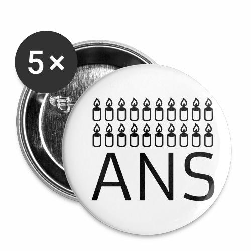 20 ans 20 bougies - Lot de 5 petits badges (25 mm)