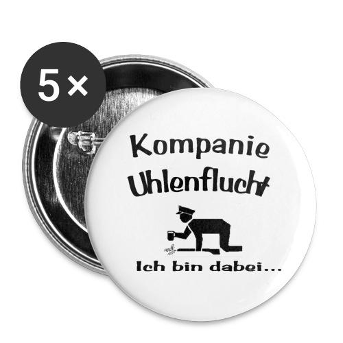 uhlenflucht transparent - Buttons klein 25 mm (5er Pack)