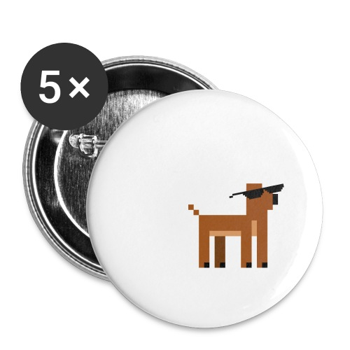 Christmas Xmas Deer Pixel Funny - Buttons small 1''/25 mm (5-pack)