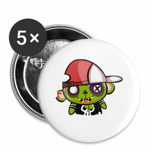 zombie hiphop - Paquete de 5 chapas pequeñas (25 mm)