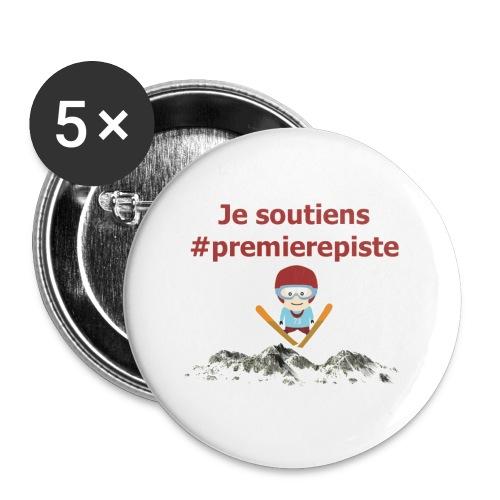 Soutenez #premierepiste - Lot de 5 petits badges (25 mm)