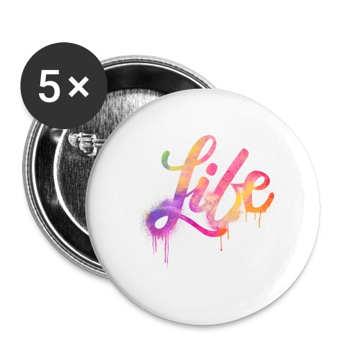 life - Confezione da 5 spille piccole (25 mm)