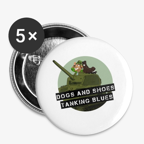logo dogs nieuw - Buttons klein 25 mm (5-pack)