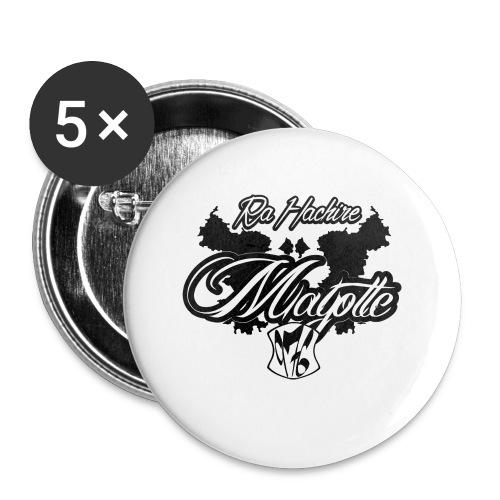 RA HACHIRI - Lot de 5 petits badges (25 mm)