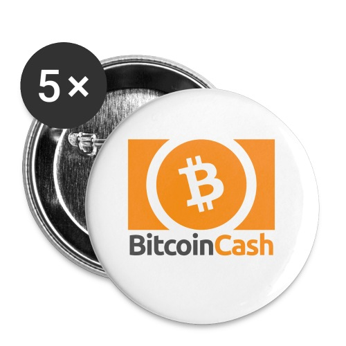 Bitcoin Cash - Rintamerkit pienet 25 mm (5kpl pakkauksessa)