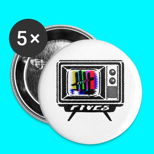 FIVES old tv broadcast - Lot de 5 petits badges (25 mm)
