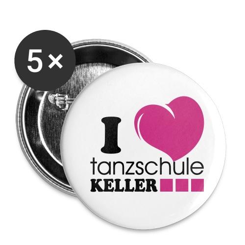 I love Tanzschule Keller - Buttons klein 25 mm (5er Pack)
