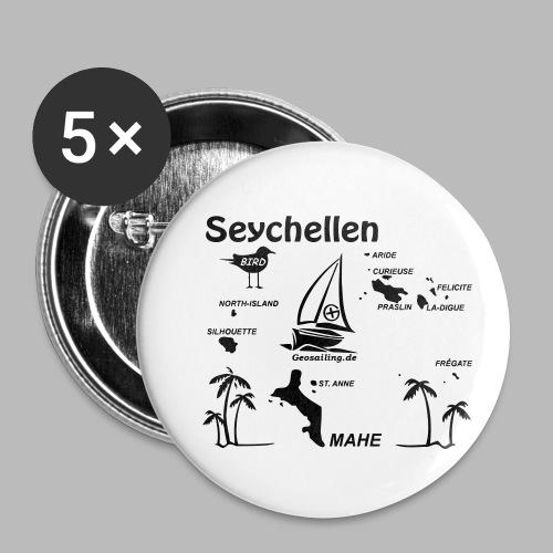 Seychellen Insel Crewshirt Mahe etc. - Buttons klein 25 mm (5er Pack)