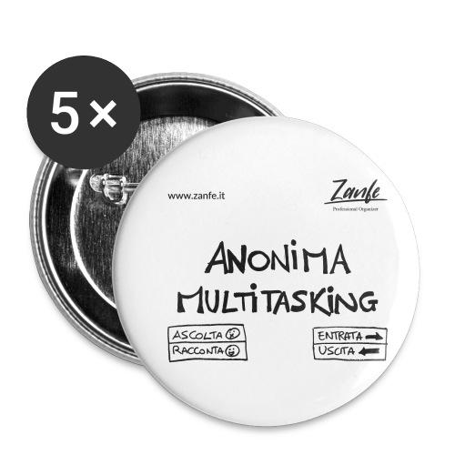 Anonima Multitasking (Nero) - Confezione da 5 spille piccole (25 mm)