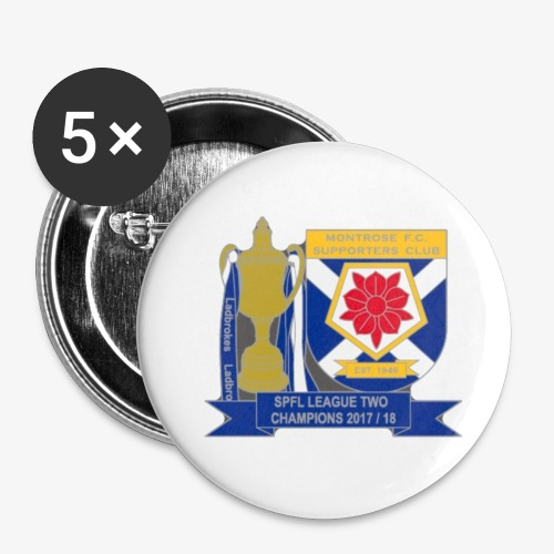 MFCSC Champions Artwork - Buttons small 1''/25 mm (5-pack)