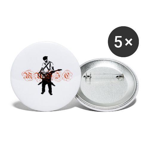 Guitarr Musician by Stefan_Lindblad - Små knappar 25 mm (5-pack)