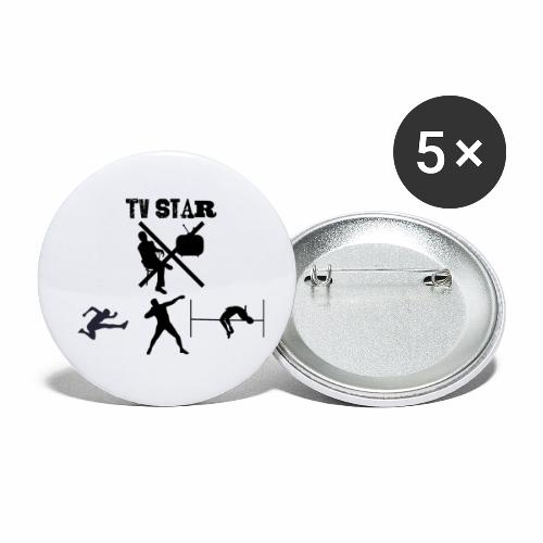 TV Star - Buttons klein 25 mm (5er Pack)
