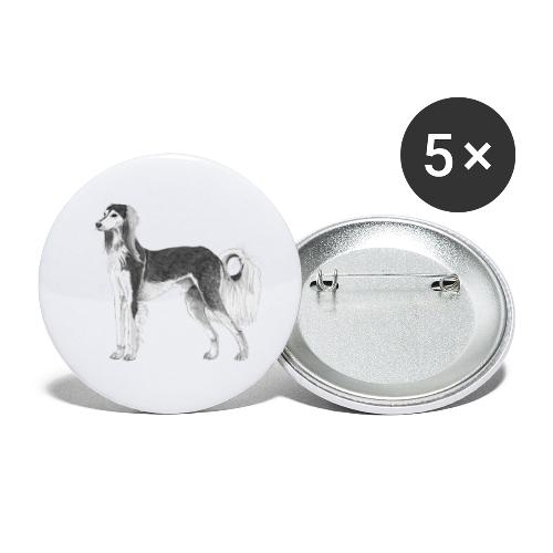 saluki - Buttons/Badges lille, 25 mm (5-pack)