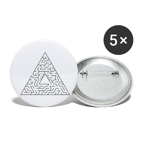 Triangle Maze - Buttons small 1''/25 mm (5-pack)