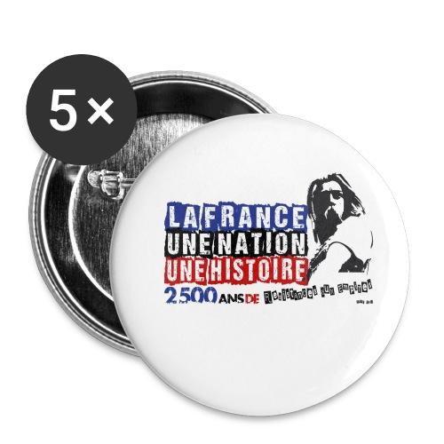 Vercingétorix - Lot de 5 petits badges (25 mm)