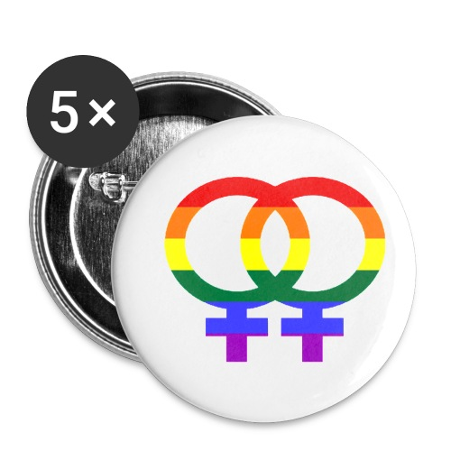 Gay Women Sign - Buttons klein 25 mm