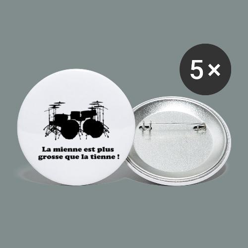 La mienne est plus grosse - Lot de 5 petits badges (25 mm)