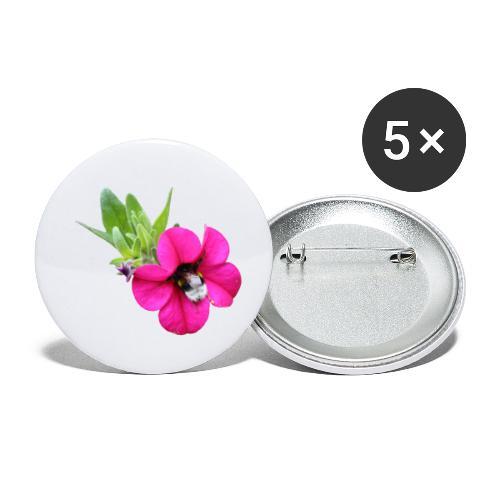 Miljoonakello ja kimalainen - Rintamerkit pienet 25 mm (5kpl pakkauksessa)