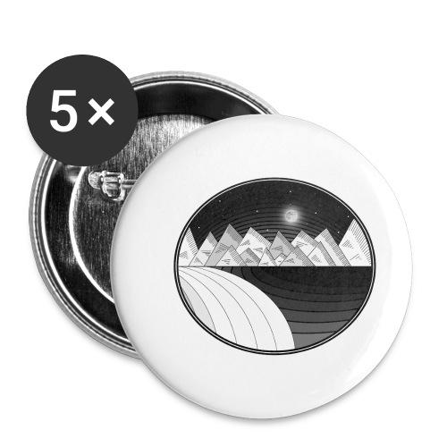 VIAJE MONOCROMÁTICO - Paquete de 5 chapas pequeñas (25 mm)