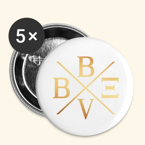 BVBE Gold X Factor - Buttons small 1''/25 mm (5-pack)