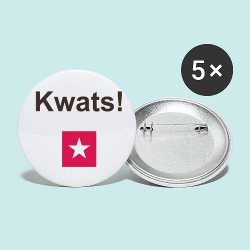 Kwats mr def b - Buttons klein 25 mm (5-pack)