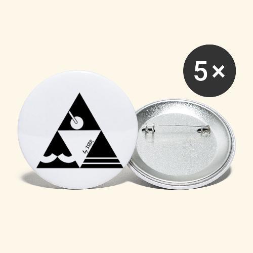 TRI-ANGLE BLACK & WHITE by 3SBR - Lot de 5 petits badges (25 mm)