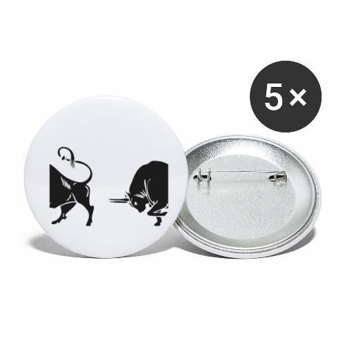 TORO - BULL - Confezione da 5 spille piccole (25 mm)