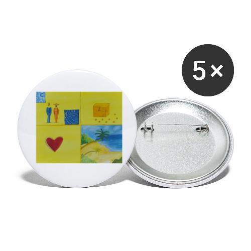 Viererwunsch - Buttons klein 25 mm (5er Pack)
