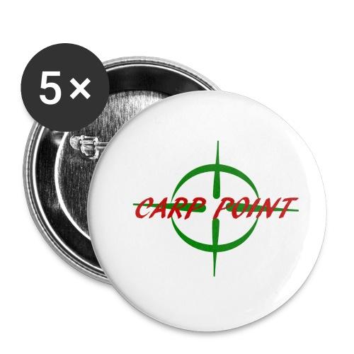 Carp Point T-Shirt - Buttons klein 25 mm (5er Pack)