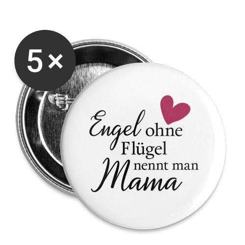 Engel ohne Flügel nennt man Mama - Buttons klein 25 mm (5er Pack)