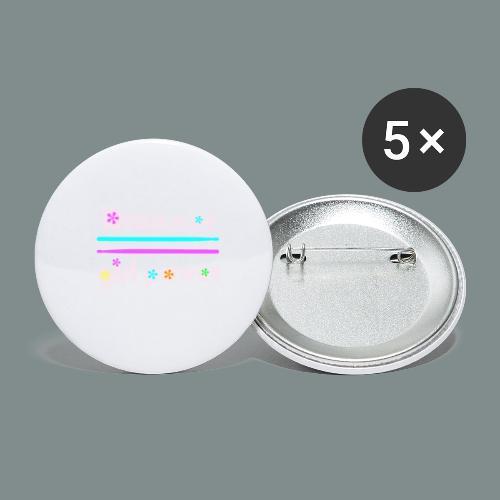 Drummer girlpower rose - idee cadeau batteur - Lot de 5 petits badges (25 mm)